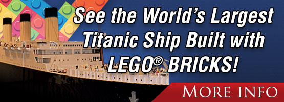 See the World's Largest Titanic Ship Built with LEGO® BRICKS!